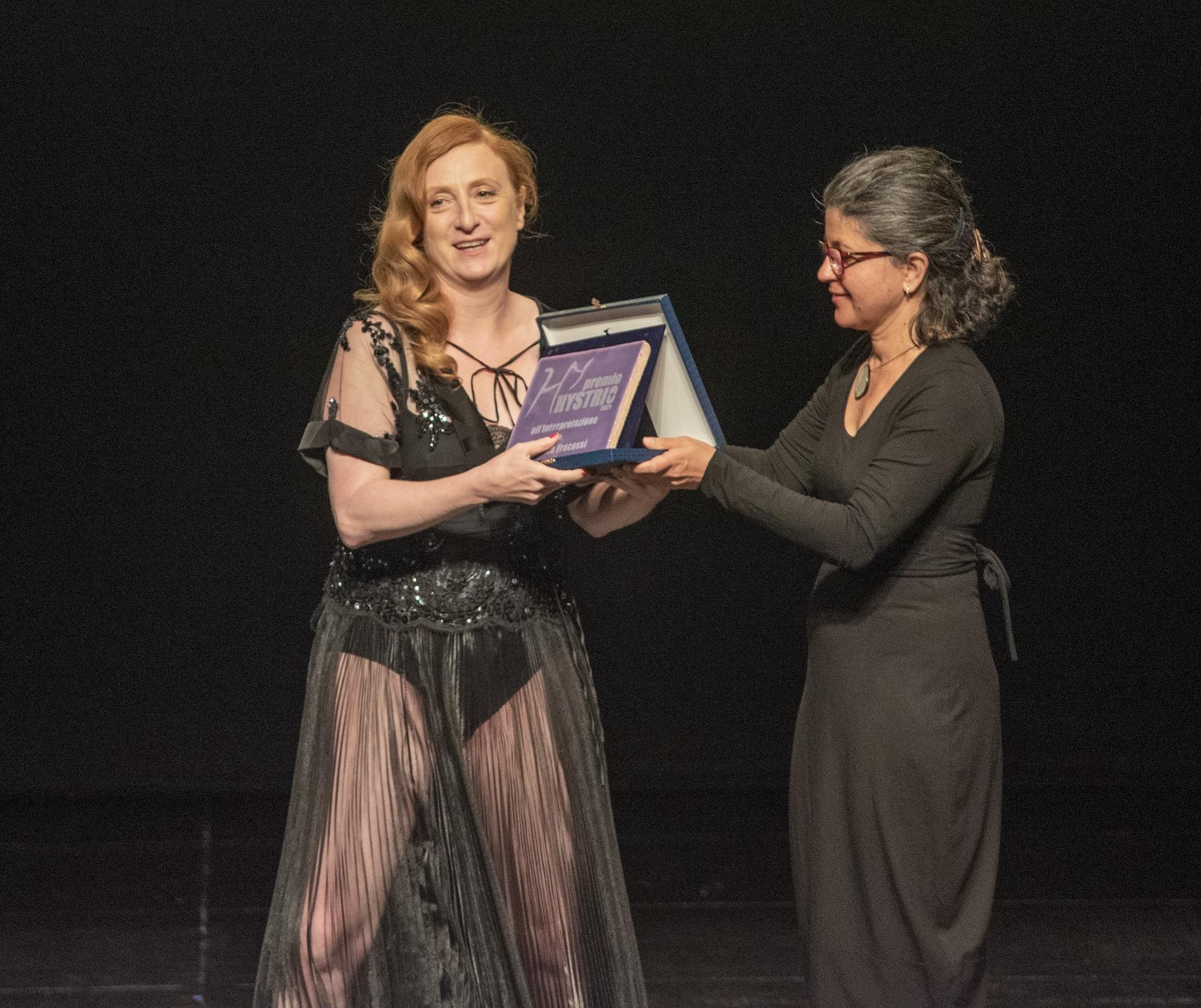 Premio Hystrio 2021 alla interpretazione, Federica Fracassi (foto Gabriele Lopez)